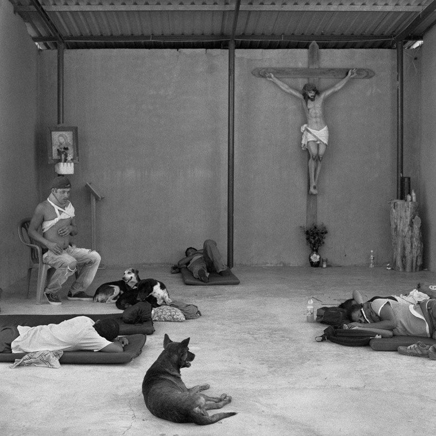 death train migrant shelter chapel