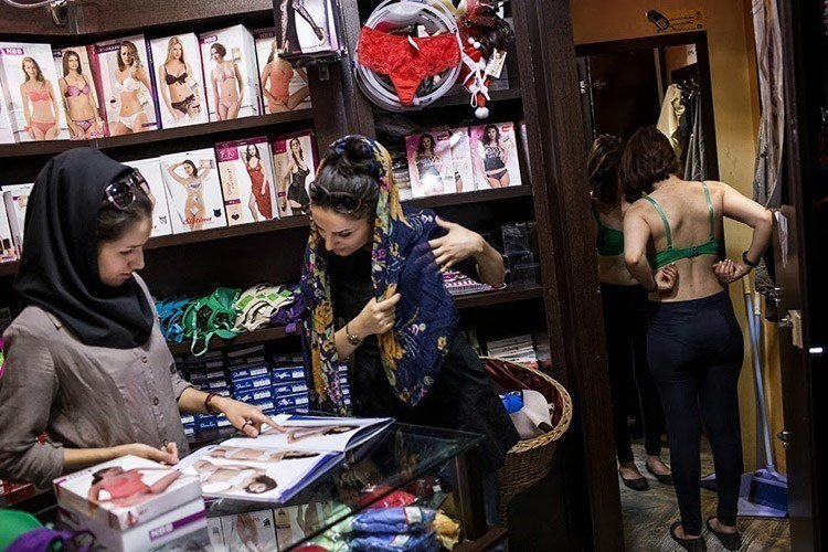 Everyday iran bra shopping