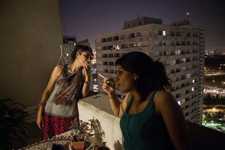Everyday iran balcony smoking
