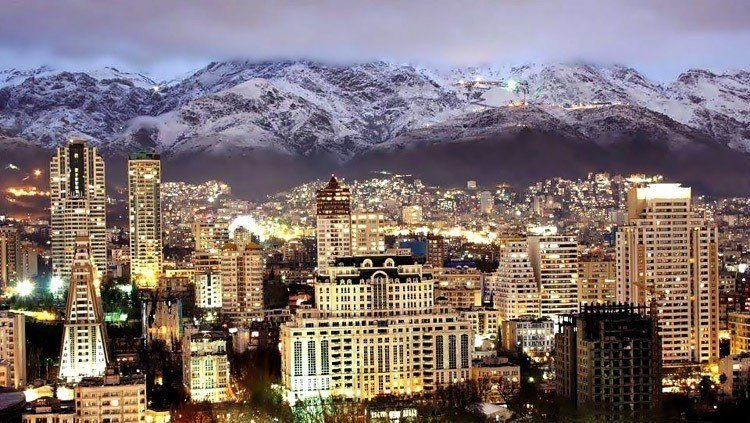Everyday iran tehran skyline mountains