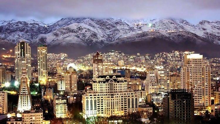 Everyday iran tehran skyline mountains