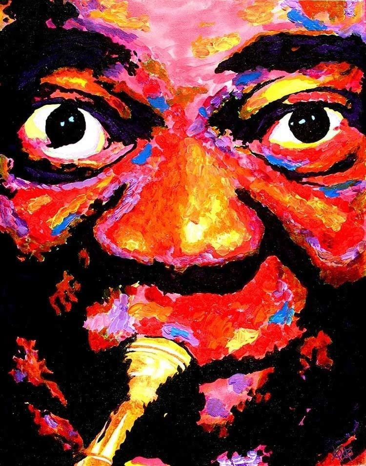 bramblitt paints a face