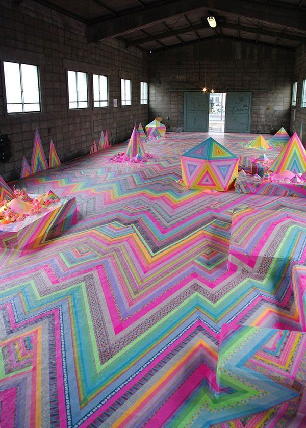 Floor Installation Candy Art