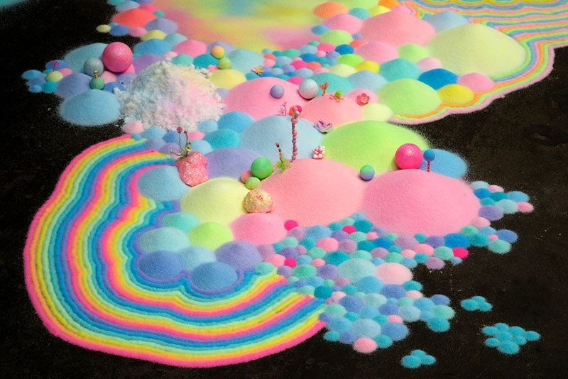 Colorful Art Made From Sugar