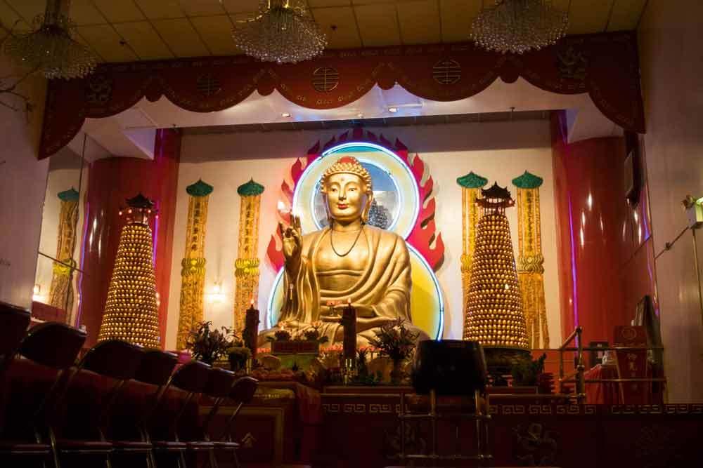 Buddha statue in Chinatown, NYC