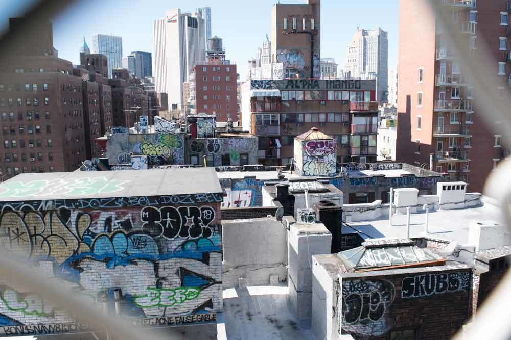 Chinatown rooftop graffiti