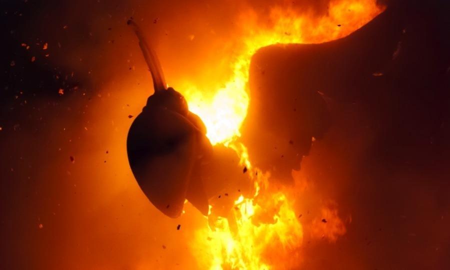 Las Fallas Effigy Burning