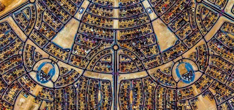 geometric earth blue earth scarab