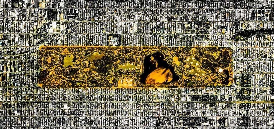 geometric earth rectangular mustard