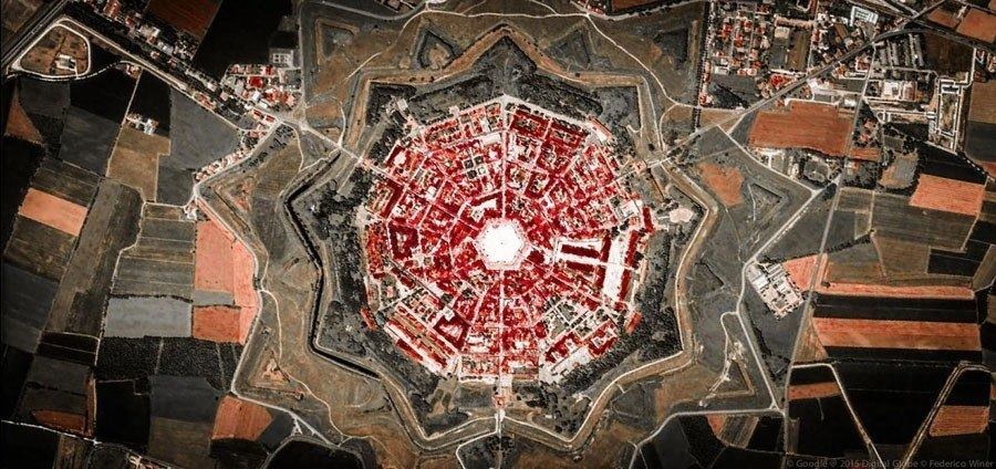 geometric earth red burst