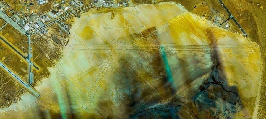 geometric earth yellow lands
