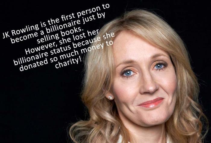 JK Rowling Facts Trivia