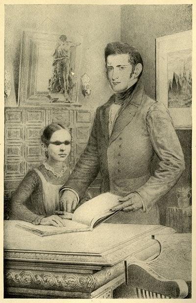 Laura Bridgman With Teacher