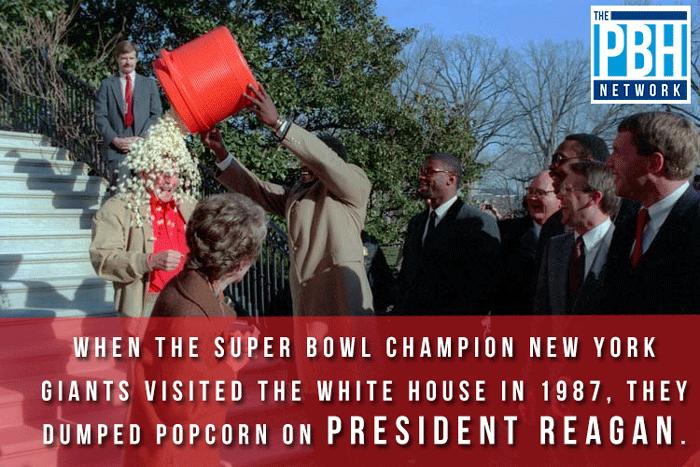 When The New York Giants Met President Reagan