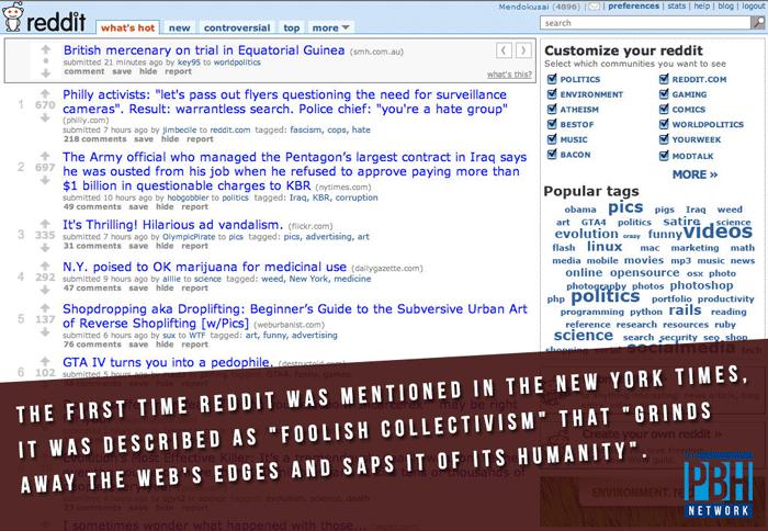 The New York Times On Reddit