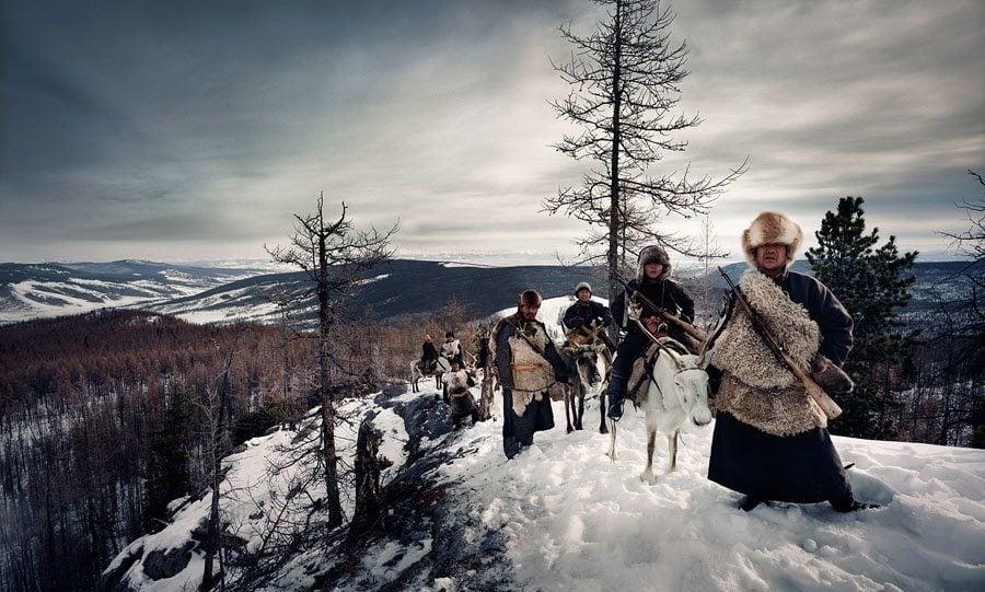 reindeer people hill top