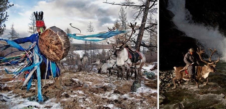 reindeer people mongolian drummer