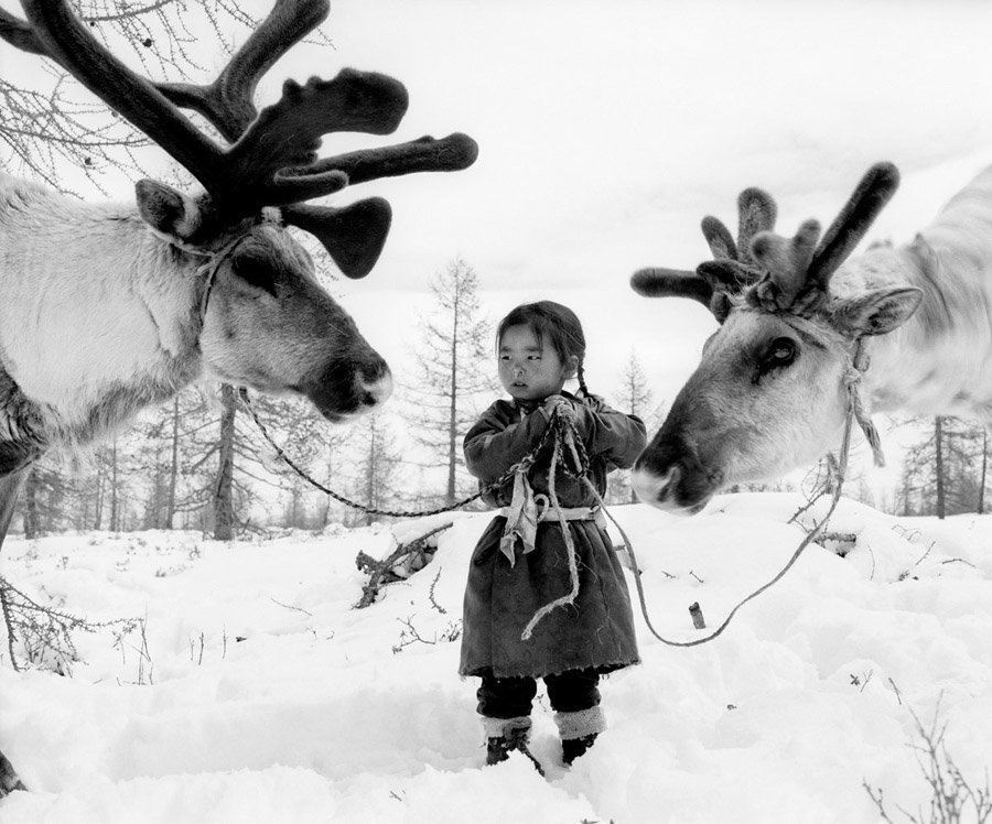 reindeer people young girl