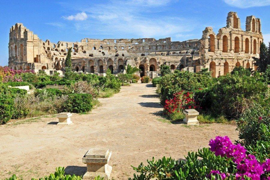 Roman Ruins Djem Tunisia