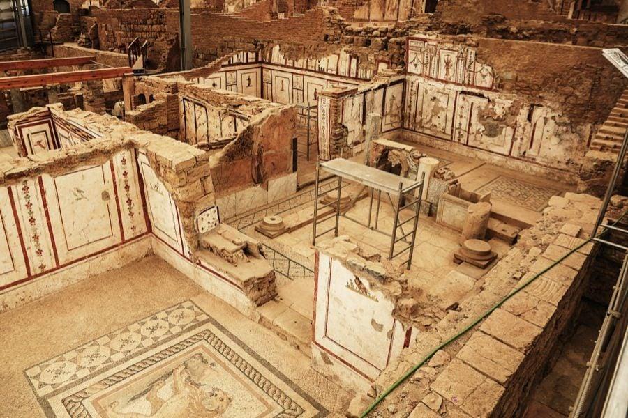 Roman Ruins Ephesus Houses