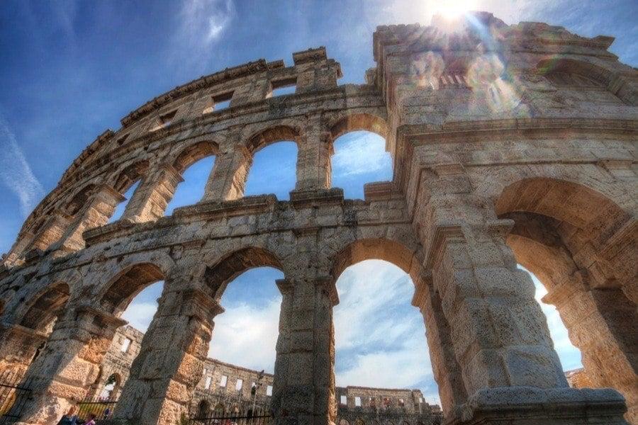 Roman Ruins Pula Coliseum