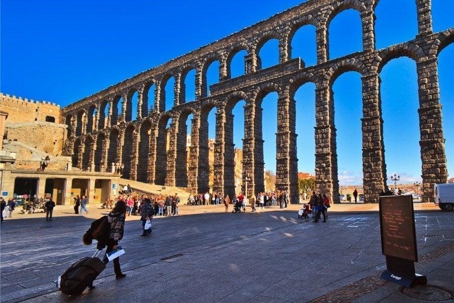 Roman Ruins Segovia Aqueduct