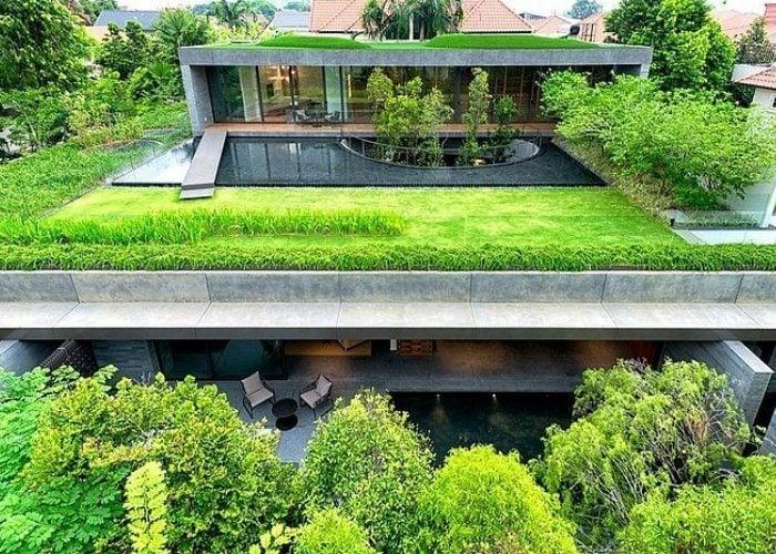Rooftop Gardens Modern Home