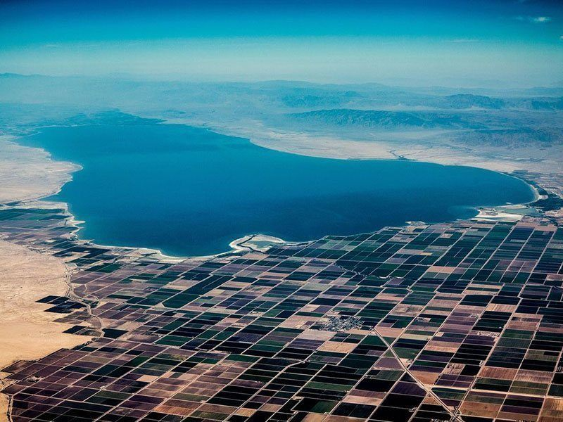 Aerial View of Salton Sea