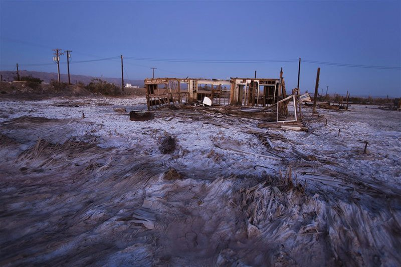 Remnants of Abandoned Salton Sea