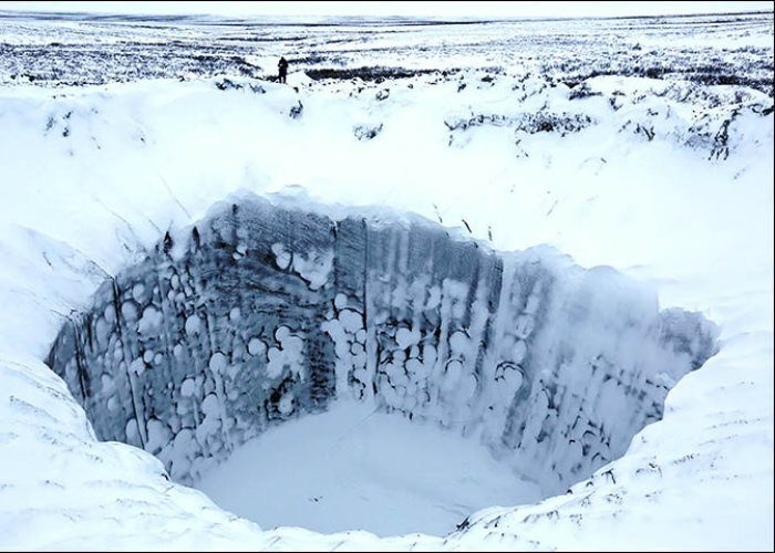 Yamal Crater Winter
