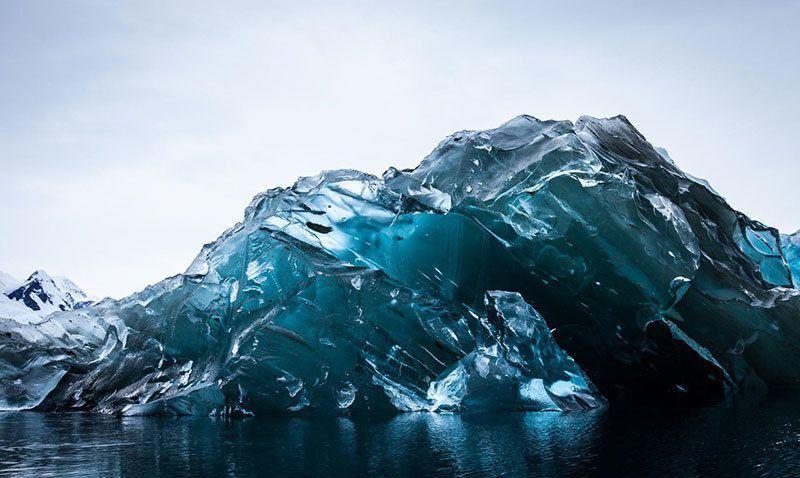 Underside of Stunning Iceberg