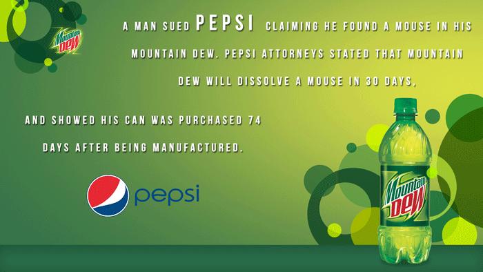 Suing Pepsi