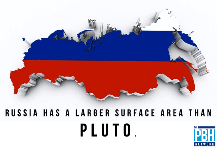 Surface Area Of Russia And Pluto