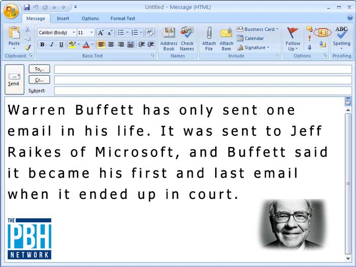 Warren Buffet Email