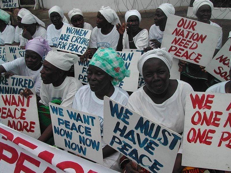 Liberia Rape Women Demonstrating