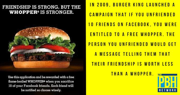 Whopper Facebook Campaign