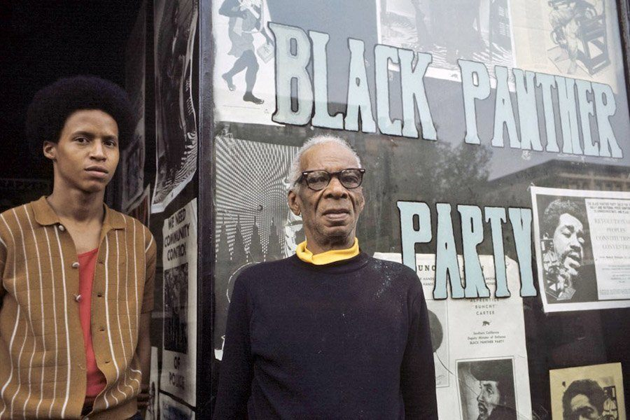 Members Of The Black Panthers In Harlem