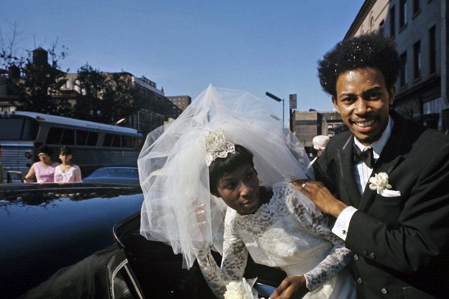 Newlyweds in 1970s Harlem