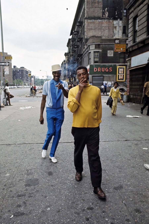 70s Harlem yellow shirt man