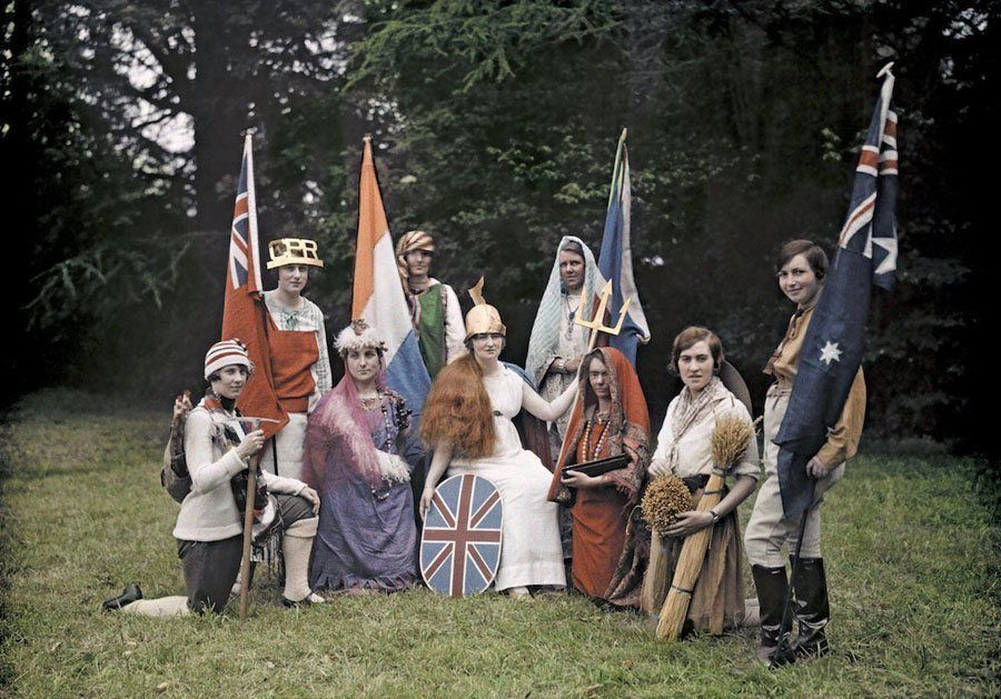 england in color flags