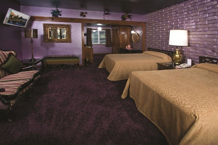 madonna inn gold and purple