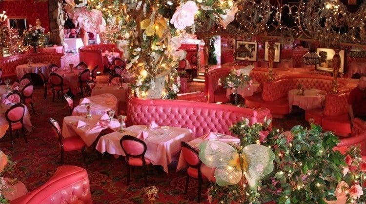madonna inn pink dining room