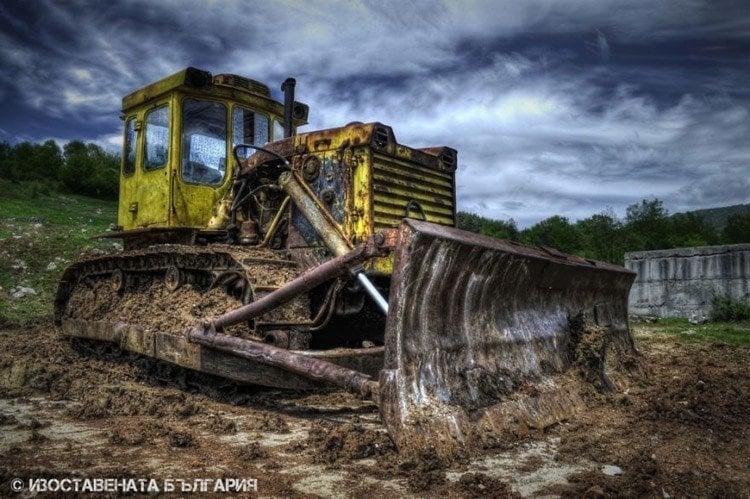 abandoned bulgaria bulldozer