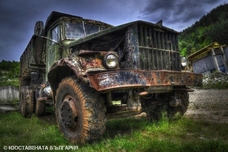 abandoned bulgaria large truck