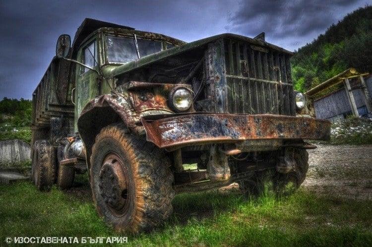 abandoned bulgaria large truck