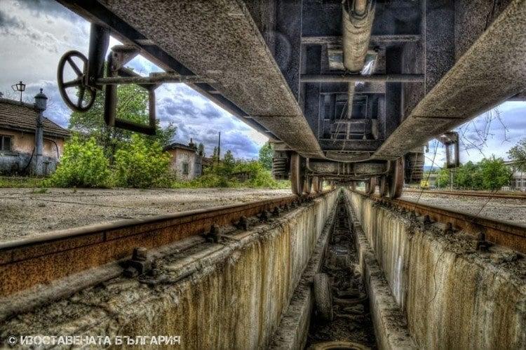abandoned bulgaria under train