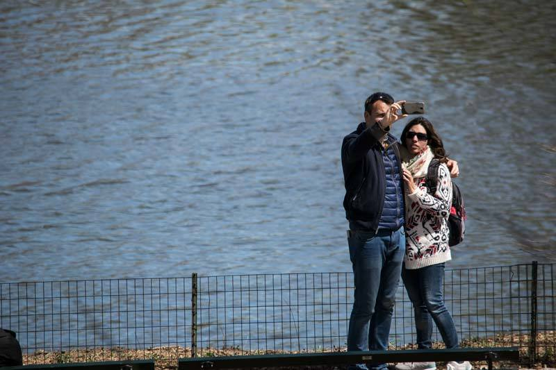 couples selfie in central park