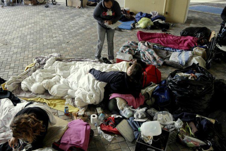 Childhood Homelessness Encampment