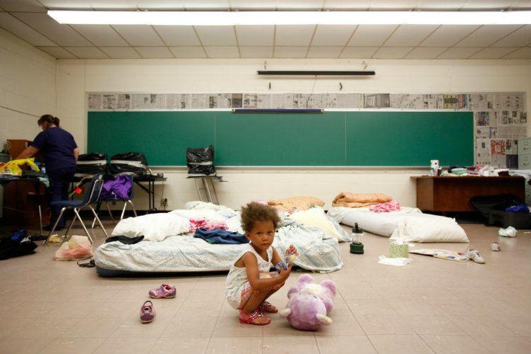 Childhood Homelessness Temp Shelter