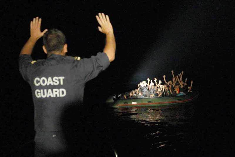 Greek coast guard finds boat filled with migrants